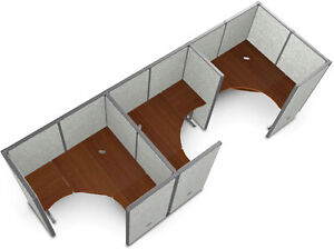 Office Furniture Rize Series 63 H X 60 W Steel Base Gray Vinyl Panel Workstation