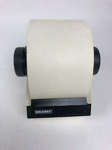 Vintage Rolodex Steel Metal Covered Card File With Cards Model 1753