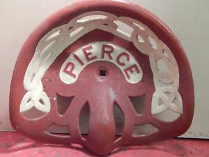 Pierce Vintage Cast Iron Tractor Implement Seat Farm Collectables