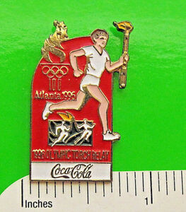 COCA COLA  OLYMPICS 1996 -  hat pin   lapel pin   badge  tie tac  GIFT BOXED
