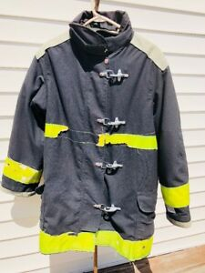 Black Yellow 48 X 31 Firefighter Jacket Coat Lion Apparel Gear Body Guard Tfc