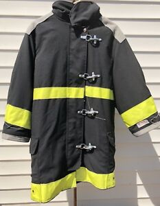 Body Guard Firefighter Turnout Coat Jacket Size 38x35x30 Black Yellow Tfc