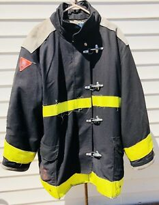 Body Guard Firefighter Turnout Coat Jacket Size 50x35 Black Yellow Tfc