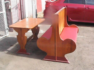 9 Vintage Wooden Restaurant Double Booths 2 Single Booths 11 Tables From 1936