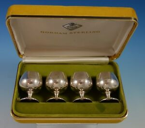 Gorham Sterling Silver Cordial Cups Set 4pc In Fitted Box 955 2528