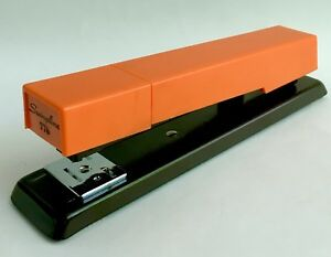 New In Box Vintage Swingline Centron Stapler 776 Instructions 1970s Orange Brown