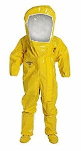 Dupont Tychem Br Encapsulated Suit Expanded Back Rear 3x large Br528tyl