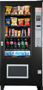 Ams 4 Wide Glass Front Soda snack Combo Vending Machine Brand New Made In Usa