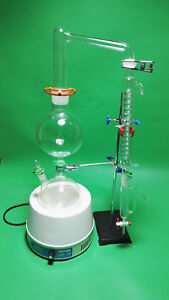 Essential Oil Steam Distillation Kit heating Mantle graham Condenser