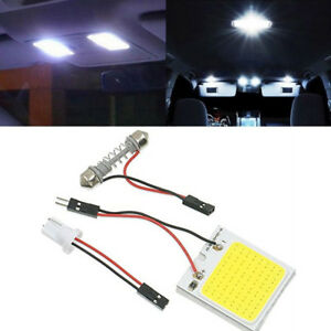 48 Smd Cob Led T10 4w 12v Car Interior Panel Lights Dome Lamp Bulb White Light