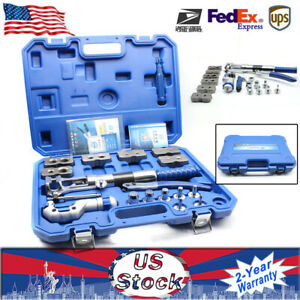 Universal Hydraulic Flaring Tool Set Kit Pipe Fuel Line Expander Cutter