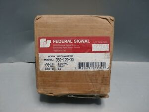 Federal Signal 350 120 30 Vibratone Electro mechanical Horn Surface Mount 1