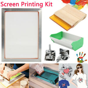 A5 5pcs set Screen Printing Kit Aluminum Frame hinge Clamp emulsion Coater squee