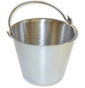 Stainless Steel Pail Bucket Handle 4qt Veterinary Surgery Dental Milk Food