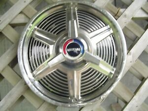 1965 65 Ford Mustang One Spinner Hubcap Wheelcover Center Cap Antique Vintage