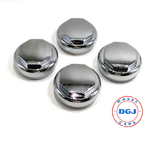 Hex Smooth Chrome Knock Off Spinner Cap For Lowrider Wire Wheels