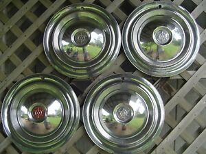 1955 1956 1957 Packard Chipper 15 In Hubcaps Wheel Covers Center Caps Vintage