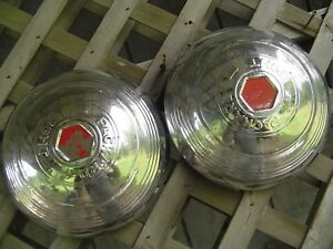 Two Packard Phaeton Club Sedan Super Eight Roadster Dietrich Hubcaps Wheel Cover