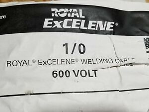 Southwire Royal Excelene 1 0awg Flexible Welding battery Cable 600v Black 25ft