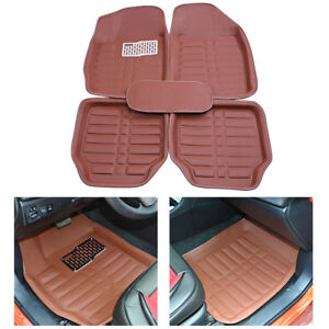 5pcs Universal Car Floor Mats Auto Floor Liner Carpet Set All Weather Waterproof
