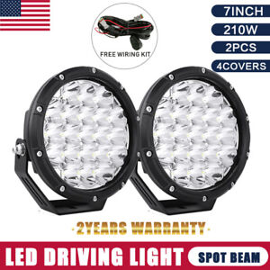280w 7inch Pair Cree Led Driving Light Spotlight Black Round Offroad 4x4 Suvjeep