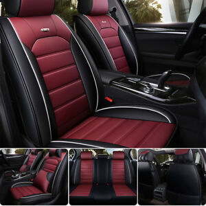 Us Car 5 seat Cover Cushion Pillows Full Kits Luxury Deluxe Edition Black