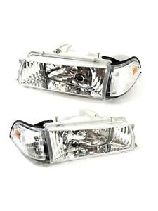 Headlights Black Housing Lamps 88 92 Toyota Corolla Ae90 Ae92 93 94 E90 Ee90