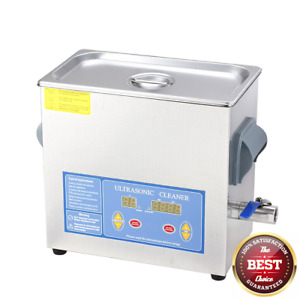 Flexzion Commercial Ultrasonic Cleaner 6l Large Capacity Stainless Steel With