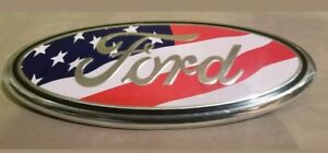 American Flag 2005 2014 Ford F150 Front Grille Tailgate 9 Inch Oval Emblem 1pcs