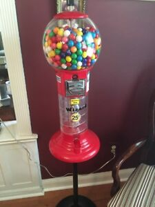 Lil Whirler Spiral Gumball Machine Red With Stand Wizard
