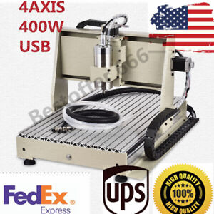 400w 4 Axis 3040 Diy Cnc Router Engraving Machine Engraver Desktop Wood Carving