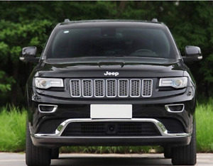 2015 Chrome Front Grill Mesh Grille Insert For 2014 2015 Jeep Grand Cherokee 7pc