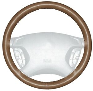 Wheelskins Tan Genuine Leather Steering Wheel Cover For Audi size C