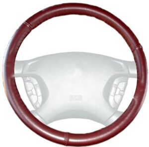 Wheelskins Burgundy Genuine Leather Steering Wheel Cover For Bmw Size Ax