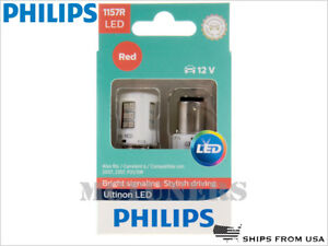 New Philips 1157r Ultinon Led Red Bulbs 1157rulrx2 Pack Of 2