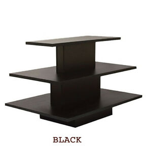 3 Tier Rectangular Black Display Table Rack Stand New York Pickup Only