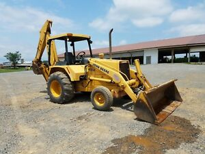 1984 John Deere 410b Backhoe Loader Diesel Engine Hydraulic Construction Machine