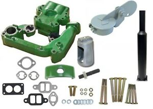 Intake Exhaust Manifold Muffler Heat Exchange Kit John Deere 530 Tractor