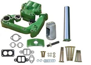 Manifold Kit With Straight Chrome Stack Muffler John Deere 530 Tractor