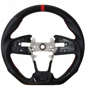 10th Gen Honda Civic 16 19 Cipher Auto Performance Leather Steering Wheel Carbon