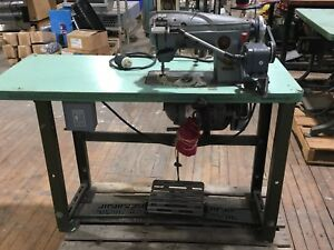 Singer 350a 457 Gsvi Industrial Sewing Machine Textile Mill Zig Zag W Table