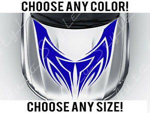Tribal Design Kit Car Mirrored Hood Decal Vinyl Sticker Custom Any Size Color