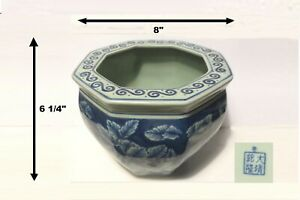 Top Pick C1900 Antique 8 X6 Octagon Porcelain Planter Qing Dynasty Stamp China