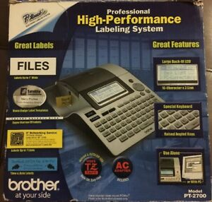 Brother P touch Model Pt 2700 Desktop Electronic Labeling System Complete