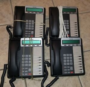 Lot Of 4 Toshiba Dkt 3207 sd Dkt 3207sd Dkt3207sd Digital Business Display Phone