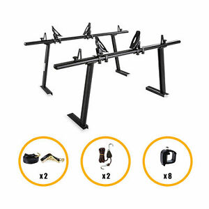 Truck Contractor Ladder Rack Aluminum W Saddle Kayak Carrier Rack Canoe Boat