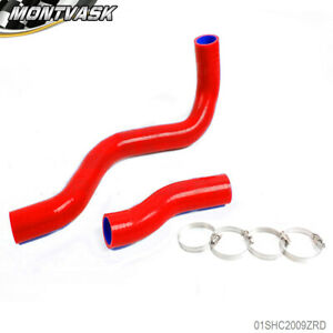 Silicone Radiator Hose Kit For Toyota Lexus Is300 Altezza Jce10 2jzge 00 05 Red