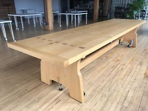Custom Solid Ash Wood 12 Conference Table Excellent Condition