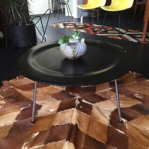 C 1950 S Eames Coffee Table Ctm All Original Ebonized Wood Metal