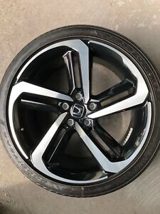 2018 Honda Accord Sport Oem 19 Factory Wheel And Tire Rim Great Condition